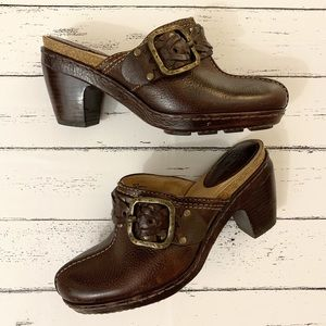 Frye | Brown Candice Woven Leather Clog